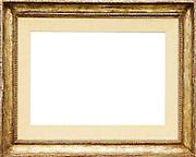 golden frame isolated on white background