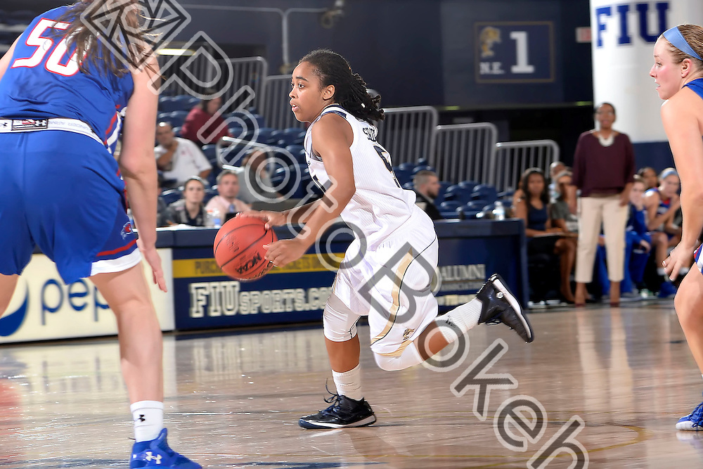 2015 December 04 - FIU's Taylor Shade (5). <br /> Florida International University defeated UMass Lowell, 71-68, at FIU Arena, Miami, Florida. (Photo by: Alex J. Hernandez / photobokeh.com) This image is copyright by PhotoBokeh.com and may not be reproduced or retransmitted without express written consent of PhotoBokeh.com. ©2015 PhotoBokeh.com - All Rights Reserved