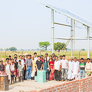 CAPTION: Group photo at the OORJAgram Rural Enterprise Zone during the Rockefeller Foundation's documentation mission. LOCATION: Diara Rasulpur, Saran District, Bihar, India. INDIVIDUAL(S) PHOTOGRAPHED: Many.