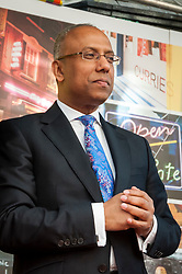 © Licensed to London News Pictures.**File picture. Met Police conclude that there is insufficient evidence to prosecute anyone following investigation into former Mayor of Tower Hamlets, LUTFUR RAHMAN, in relation to offences of electoral fraud and malpractice arising from the 2014 mayoral election.** File pic dated 23/03/2014. LONDON, UK.  Lutfur Rahman, Mayor of Tower Hamlets, attends the Taste Brick Lane Awards 2014  in Brick Lane. Photo credit : Stephen Chung/LNP. Photo credit: Stephen Chung/LNP