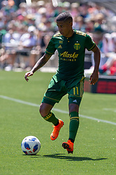May 13, 2018 - Portland, OR, U.S. - PORTLAND, OR - MAY 13: Young Paraguayan Portland Timbers midfielder Andy Polo during the the Portland Timbers 1-0 victory over the Seattle Sounders on May 13, 2018, at Providence Park in Portland, OR. (Photo by Diego Diaz/Icon Sportswire) (Credit Image: © Diego Diaz/Icon SMI via ZUMA Press)