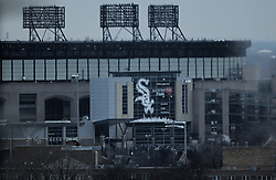 08 February 2017: <br /> <br /> Guaranteed Rate Field (Chicago White Sox) as viewed from the Hyatt McCormick.