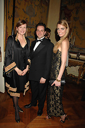 Left to right, the COUNTESS OF WOOLTON, JOHN KELLY and JESSICA ORNSTEIN at a dinner hosted by the Italian Ambassador for the Buccellati family held at the Italian Embassy, Grosvenor Square, London on 28th March 2007.<br /><br />NON EXCLUSIVE - WORLD RIGHTS