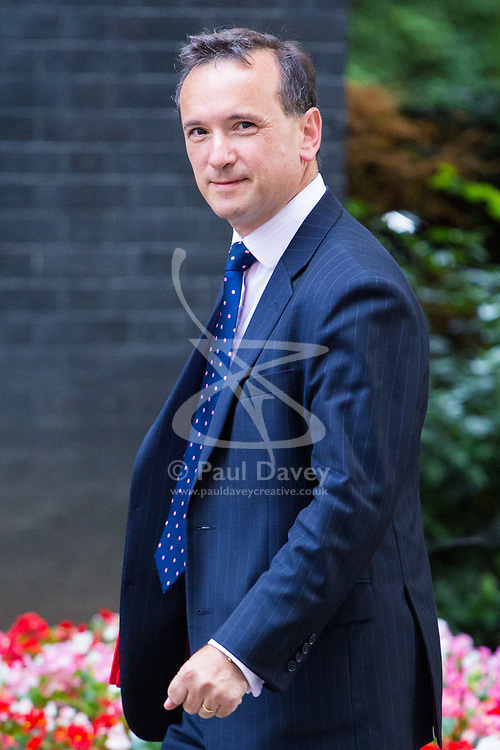 London, July 18th 2017. Welsh Secretary Alun Cairns attends the last cabinet meeting before the Parliamentary summer recess at Downing Street in London.