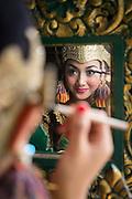 Dancer preparing at the Kraton of Yogyakarta, Yogyakarta, Yogyakarta Special Region, Java, Indonesia, Southeast Asia