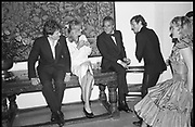 sebastian taylor; LADY COSIMA FRY; TAKI; ,Christine O'Dell/ Lord Anthony Russell party, Leeds castle. 22 June 1985. <br /> <br /> SUPPLIED FOR ONE-TIME USE ONLY> DO NOT ARCHIVE. © Copyright Photograph by Dafydd Jones 248 Clapham Rd.  London SW90PZ Tel 020 7820 0771 www.dafjones.com
