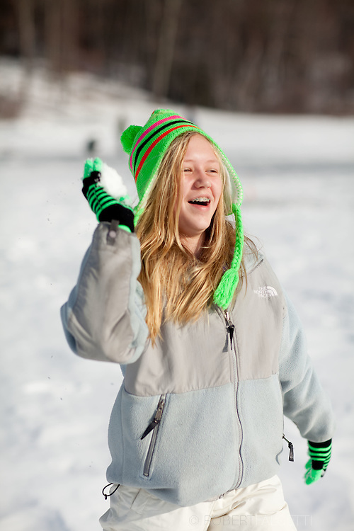 Ice fishing on Russell Pond in Russell, MA on New Year's Day 2011.  (Photo by Robert Falcetti).... .