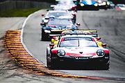 August 5 2018: IMSA Weathertech Continental Tire Road Race Showcase. 912 Porsche GT Team, Porsche 911 RSR, Laurens Vanthoor, Earl Bamber
