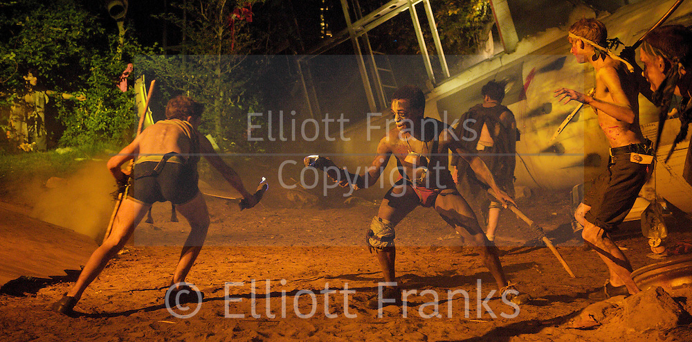 Lord of the Flies<br /> by William Golding <br /> adapted for stage by Nigel Williams<br /> at Regent's Park, Open Air Theatre, London, Great Britain <br /> press photocall<br /> 20th May 2011<br /> <br /> <br /> Company <br /> <br /> <br /> Photograph by Elliott Franks