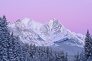 Dawn on the Canadian Rocky Mountains , Banff National Park, Alberta, Canada