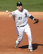 CHICAGO - MAY 23:  Todd Frazier #21 of the Chicago White Sox fields against the Cleveland Indians during game one of a double header on May 23, 2016 at U.S. Cellular Field in Chicago, Illinois.  The White Sox defeated the Indians 7-6.  (Photo by Ron Vesely)   Subject:   Todd Frazier
