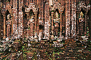 Weathered wall in My Son temple, Quang Nam Province, Vietnam, Southeast Asia 2016