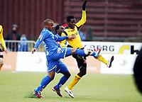 Fotball ,9. april 2012 , Adeccoligaen , 1. divisjon , Sarpsborg - Start 4-4<br /> Olufemi Oladapo , Start<br /> Glenn Roberts , Sarpsborg