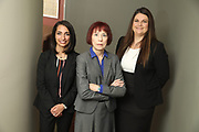 SHOT 12/4/19 11:15:14 AM - McGuane & Hogan, P.C., a Colorado family law firm located in Denver, Co. Includes attorneys Kathleen Ann Hogan, Halleh T. Omidi and Katie P. Ahles. (Photo by Marc Piscotty / © 2019)