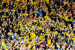 March 23, 2019 - Stockholm, SWEDEN - 190323 Supporters of Sweden during the UEFA Euro Qualifier football match between Sweden and Romania on March 23, 2019 in Stockholm. (Credit Image: © Andreas L Eriksson/Bildbyran via ZUMA Press)