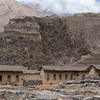 Surrounded by mountains, Ollantaytambo is a town and a famous archaological site located in the Cusco region.