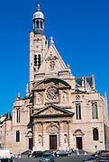 FRANCE, PARIS, LATIN QUARTER St. Etiene du Mont, c1626 built in a bazaar combo of architectural styles; Gothic, Renaissance