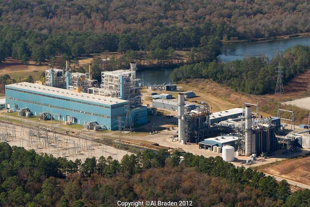 Sim Gideon and Lost Pines natural gas plants in Bastrop, TX owned by LCRA.