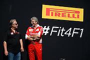 May 25-29, 2016: Monaco Grand Prix. Gene Haas, Haas F1 Team Owner, Maurizio Arrivabene, team principal of Scuderia Ferrari