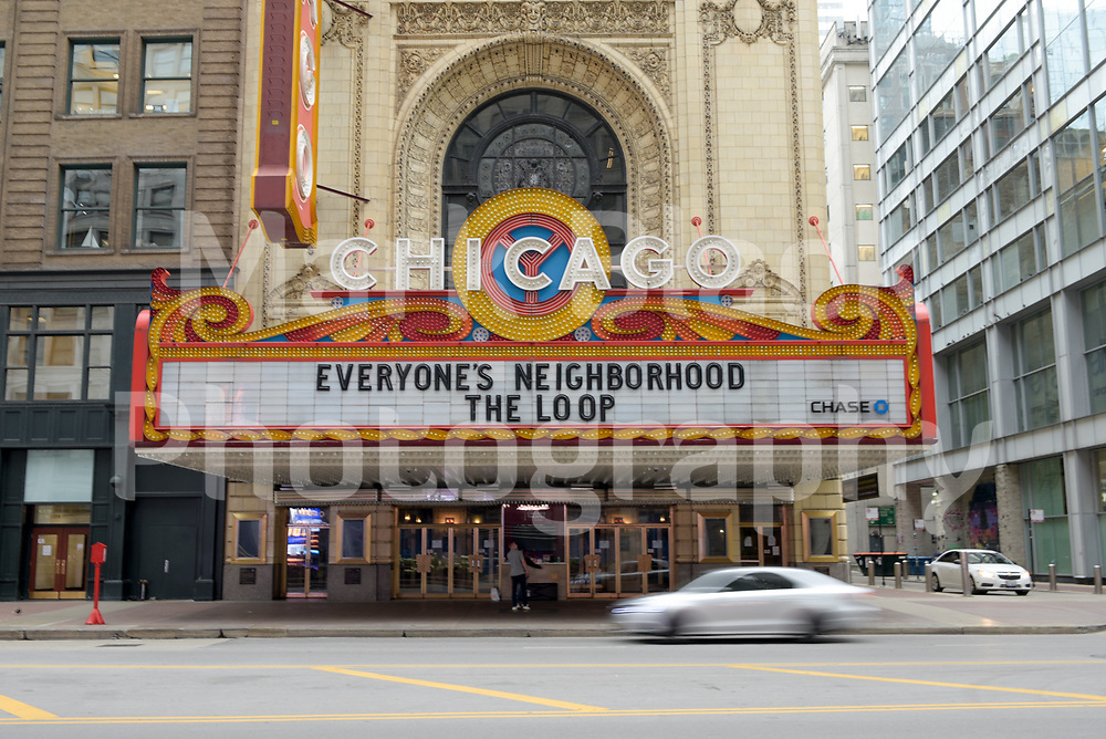 The Chicago Theatre on State Street in Chicago, Illinois. Photo by Mark Black