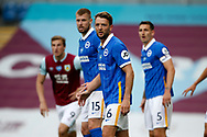 Brighton and Hove Albion midfielder Dale Stephens (6) prepares to defend a corner during the Premier League match between Burnley and Brighton and Hove Albion at Turf Moor, Burnley, England on 26 July 2020.