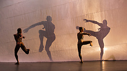 "© Licensed to London News Pictures. 27/09/2013, London, England. Pictured: Cedar Lake Company dancing ""Indigo Rose"", by choreographer Jiri Kylian. Cedar Lake Contemporary Ballet perform a Triple Bill at Sadler's Wells Theatre, 27-28 September 2013. Photo credit: Bettina Strenske/LNP"
