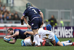 March 17, 2018 - Rome, RM, Italy - Jonny Gray of Scotland catch the ball during the Six Nations 2018 match between Italy and Scotland at Olympic Stadium on March 17, 2018 in Rome, Italy. (Credit Image: © Danilo Di Giovanni/NurPhoto via ZUMA Press)