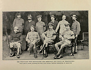 The Principals Who Negotiated The Armistice And Peace Of Vereeniging (Boer War, South Africa) From the Book '  Britain across the seas : Africa : a history and description of the British Empire in Africa ' by Johnston, Harry Hamilton, Sir, 1858-1927 Published in 1910 in London by National Society's Depository