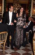 Alexandra Mentzelopoulos and Mathias Herzog, Crillon Debutante Ball.  Crillon Hotel. Paris. 27 November 2004. ONE TIME USE ONLY - DO NOT ARCHIVE  © Copyright Photograph by Dafydd Jones 66 Stockwell Park Rd. London SW9 0DA Tel 020 7733 0108 www.dafjones.com
