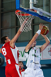Goran Dragic of Slovenia at exhibition game between Slovenia and Poland for Primus Trophy 2011Lithuania as part of exhibition games before European Championship L2011on July 23, 2011, in Ljudski Vrt, Ptuj, Slovenia. (Photo by Matic Klansek Velej / Sportida)