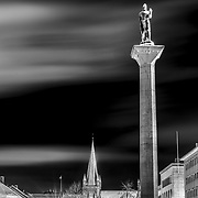 This 18-metre (58-foot) high statue stands at the centre of the town square and commemorates the Viking king Olav Tryggvason who founded the <br /> city in 997. Round the statue the cobblestone mosaic forms a gigantic sundial.<br /> <br /> Sculptor: Wilhelm Rasmussen.                    Nidaros Cathedral is Norway's national sanctuary, and was built over the grave of St. Olav, Norway's patron saint.<br /> <br /> Construction started in 1070, but the oldest parts still in existence are from the middle of the twelfth century. Ravaged by fire on several occasions, it lay largely in ruins at the time of the Reformation in 1537. The cathedral was rebuilt each time, mainly in the Gothic style, but the oldest parts around the transept reflect the Roman style. In 1869 extensive restorations were begun, and a century later Nidaros was again restored to its original grandeur.<br /> <br /> The west wall is the main façade of the church. The axis of the wall shows the crucified Christ in judgement; at the top, Christ enthroned in glory - the church was dedicated to Christ in medieval times, and was called Kristkirken, the Church of Christ. It is richly ornamented in stone, with magnificent stained glass windows from the twentieth century.<br /> <br /> From around 1050 until the Reformation this cathedral was an important destination for pilgrims. This tradition has been revived with the opening of the pilgrim way in 1997.<br /> <br /> Today the Cathedral continues to attract a great number of visitors. Each year it receive approximately 400,000 tourists from around the globe.            Text  from Visitnorway website