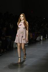 September 12, 2018 - New York, New York, U.S - September, 2018 - New York, New York  U.S. - A model on the runway at the DAN LIU S/S 2019 RTW show during New York Fashion Week 2018.  (Credit image (c) Theano Nikitas/ZUMA Wire/ZUMAPRESS.com (Credit Image: © Theano Nikitas/ZUMA Wire)