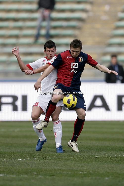 Bari (BA), 13-02-2011 ITALY - Italian Soccer Championship Day 25 - Bari VS Genoa..Pictured: Donati (BA) Mesto (GE).Photo by Giovanni Marino/OTNPhotos . Obligatory Credit