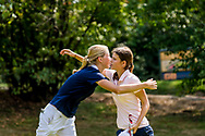 21-07-2018 Pictures of the final day of the Zwitserleven Dutch Junior Open at the Toxandria Golf Club in The Netherlands.21-07-2018 Pictures of the final day of the Zwitserleven Dutch Junior Open at the Toxandria Golf Club in The Netherlands.  SCHMIDT, Anne Høybye (DK) congratulating SOHIER, Anouk (NL)