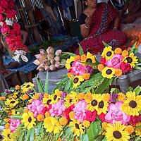 Asia, India, Calcutta. Scene from the Calcutta Flower Market.