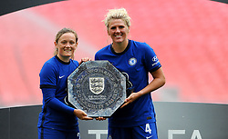 Chelsea Women pose with the FA Women's Community Shield after beating Manchester City Women 2-0 - Mandatory by-line: Nizaam Jones/JMP - 29/08/2020 - FOOTBALL - Wembley Stadium - London, England - Chelsea v Manchester City - FA Women's Community Shield