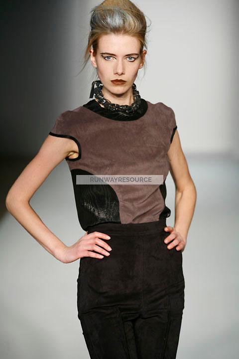 Alyona Osmanova walks the runway Costello Tagliapietra Fall 2009 collection