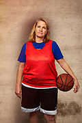 Baby Boomer Woman Basketball Player.