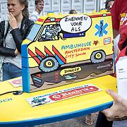 NLD/Amsterdam/20170903 - Amsterdam City Swim 2017, Drijvende Mascotte