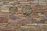 Chacoan masonry at Pueblo Bonito Ruins, Chaco Culture National Historical Park, New Mexico