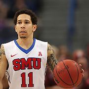 Nic Moore, SMU, in action during the Temple Vs SMU Semi Final game at the American Athletic Conference Men's College Basketball Championships 2015 at the XL Center, Hartford, Connecticut, USA. 14th March 2015. Photo Tim Clayton