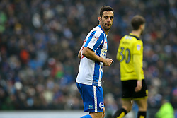 Sam Baldock of Brighton & Hove Albion looks back over his shoulder - Mandatory by-line: Jason Brown/JMP - 11/02/2017 - FOOTBALL - Amex Stadium - Brighton, England - Brighton and Hove Albion v Burton Albion - Sky Bet Championship