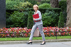 London, June 27th 2017. Leader of the House of Commons Andrea Leadsom attends the weekly UK cabinet meeting at 10 Downing Street in London.