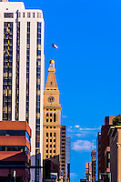 The D&F Tower on the 16th Street Mall, Downtown Denver, Colorado USA.