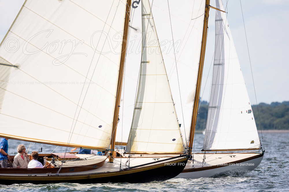 Aquila sailing in the Panerai Herreshoff Classic Yacht Regatta.