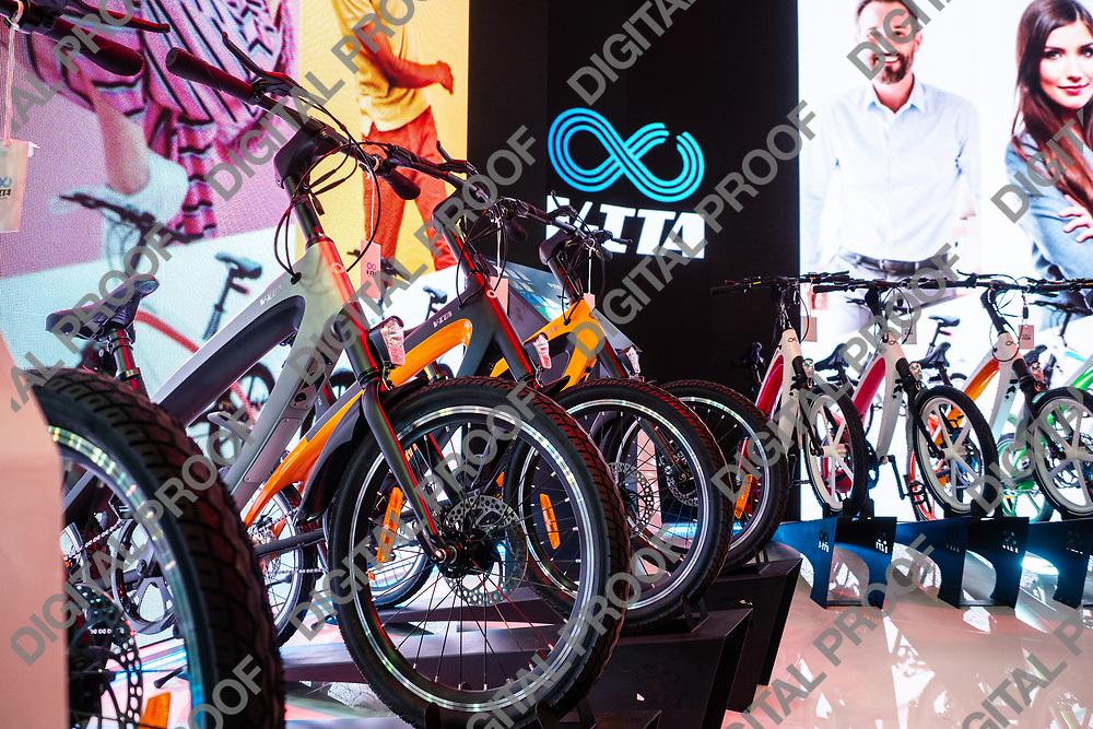 RHO Fieramilano, Milan Italy - November 07, 2019 EICMA Expo. V-Ita Augmented Mobility Stand at EICMA 2019