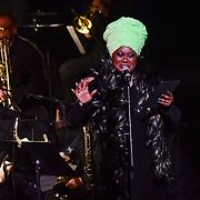 Jumoké Fashola hosts the Jazz Voice - Festival opening gala at Royal Festival Hall on 16 Nov 2018, London, UK.