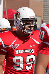 16 October 2010:  Bradon Prate during a game where the North Dakota State Bison lost to the Illinois State Redbirds 34-24, meeting at Hancock Stadium on the campus of Illinois State University in Normal Illinois.