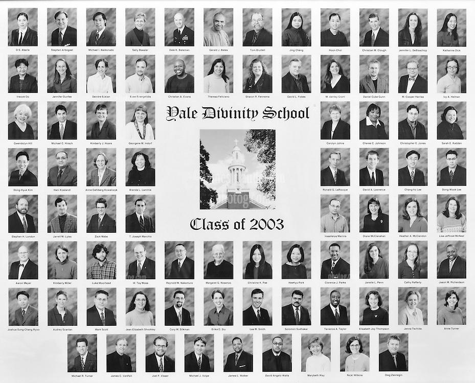 2003 Yale Divinity School Senior Portrait Class Group Photograph