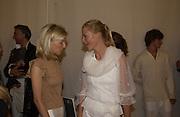 Sara Ayres and Gigi Mortimer. Valentino haute couture. Palias du Louvre, Paris. 8 July 2001. © Copyright Photograph by Dafydd Jones 66 Stockwell Park Rd. London SW9 0DA Tel 020 7733 0108 www.dafjones.com
